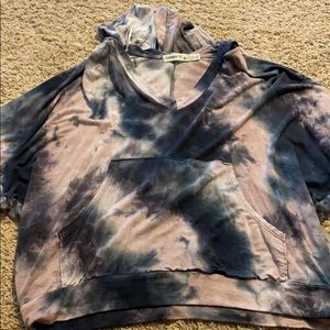 short sleeve tie dye hoodie type shirt